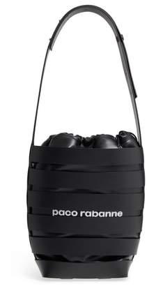 Paco Rabanne Medium Cage Leather Bucket Bag