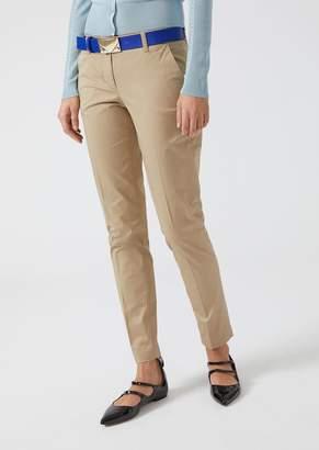 Emporio Armani Cotton Cigarette Trousers