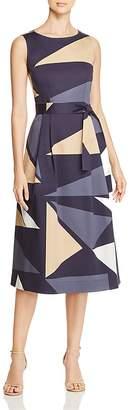 Lafayette 148 New York Sammy Geometric-Print Midi Dress