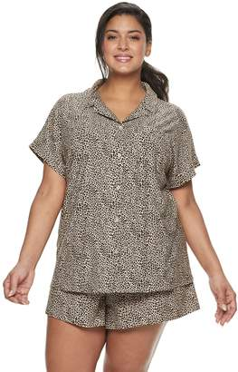 ada1d4ba0 Apt. 9 Plus Size Printed Sleep Shirt   Pajama Shorts Set