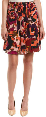 Trina Turk Diamond Silk Mini Skirt