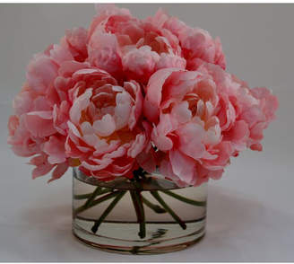 The French Bee Peonies in Glass Cylinder
