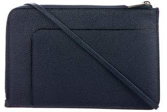 Valextra Textured Leather Crossbody Bag