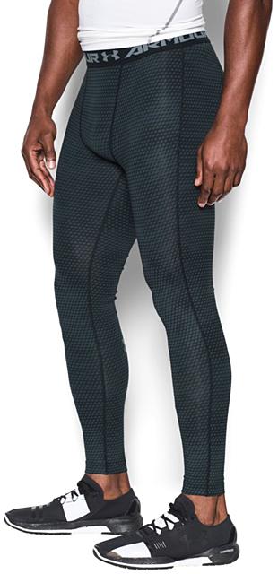 Black HeatGear® Armour Printed Compression Leggings