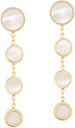 Honora Graduated Mother-of-Pearl Drop Earrings,14K Gold