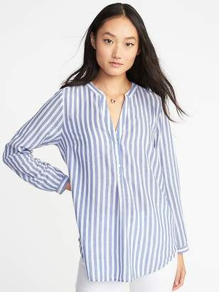 Old Navy Striped Lightweight Popover Shirt for Women