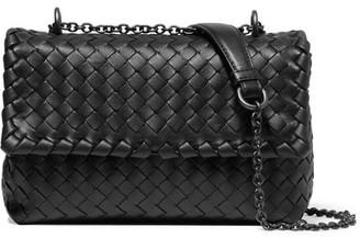 Bottega Veneta - Olimpia Intrecciato Leather Shoulder Bag - Black $2,100 thestylecure.com