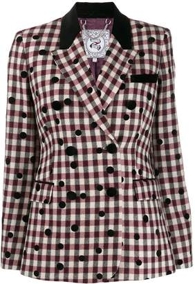 Tommy Hilfiger check double breasted blazer