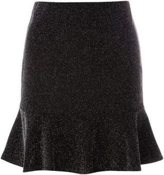 Dorothy Perkins Womens Shimmer Pephem Mini Skirt