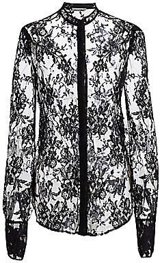 Alexander McQueen Women's Puff Sleeve Lace Shirt