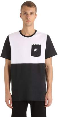 Nike Color Blocked Cotton Jersey T-Shirt
