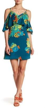 Collective Concepts Floral Flutter Sleeve Shift Dress $83 thestylecure.com