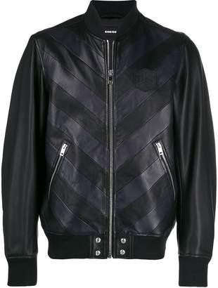 Diesel Chevron bomber jacket