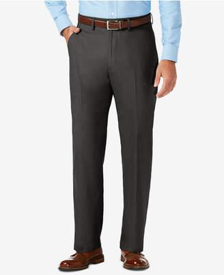 Haggar J.m. Sharkskin Classic-Fit Flat Front Premium Flex Waistband Dress Pants