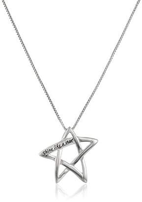 "Sterling ""Shine Like A Star"" Star Pendant Necklace"