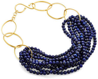 Catherine Canino Lapis Lazuli Gold Twist Necklace
