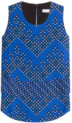 Diane von Furstenberg Silk Jersey Printed Shell