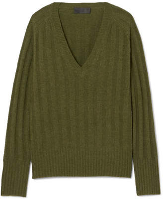 Nili Lotan Maddox Ribbed Cashmere Sweater - Green