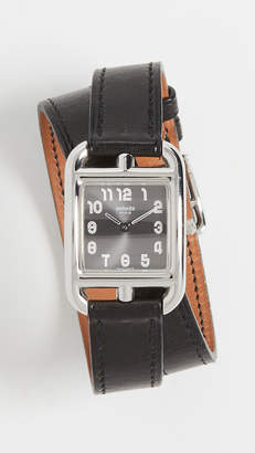 Hermes What Goes Around Comes Around Cape Cod Double Wrap Watch
