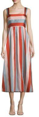 RED ValentinoRED Valentino Striped Midi Dress