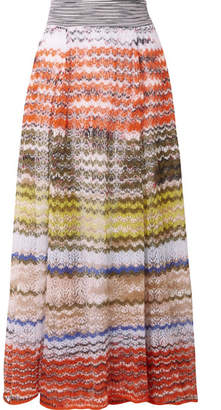 Missoni Crochet-knit Maxi Skirt - Orange