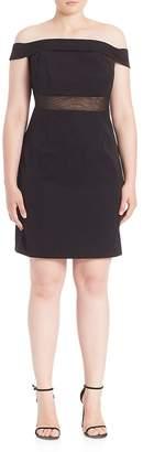 ABS by Allen Schwartz Women's Off-The-Shoulder Cocktail Dress