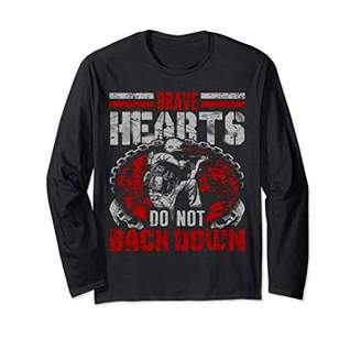Military Veteran Shirt Brave Hearts Do Not Back Down