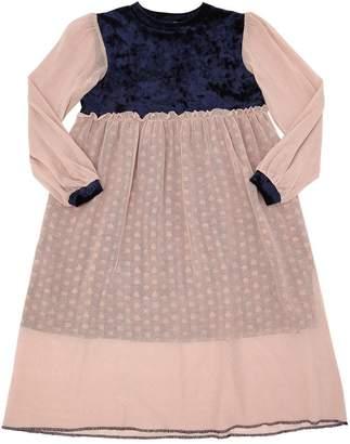 Emily Tulle & Velvet Long Dress