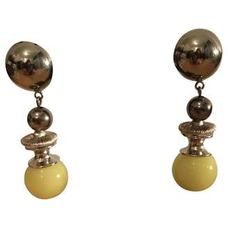 Christian Dior Vintage Yellow Pearls Earrings