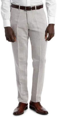 Brooksfield NEW Linen Blend Twill Trouser Brown