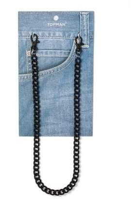 Topman Mens Black Wallet Chain*