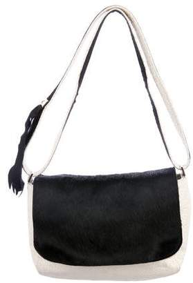 Clare Vivier Ponyhair-Trimmed Shoulder Bag