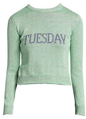 Alberta Ferretti Rainbow Week Capsule Days Of The Week Tuesday Sweater