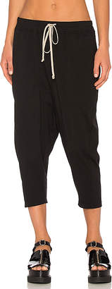 DRKSHDW by Rick Owens Drawstring Cropped Pants in Black $407 thestylecure.com