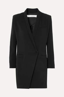 IRO Mayola Wrap-effect Crepe Mini Dress - Black