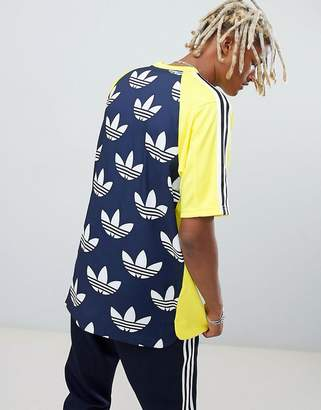 adidas B-Side Jersey With Back Print In Yellow DH5132
