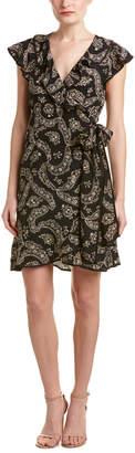 Nanette Lepore Ruffle Silk Wrap Dress