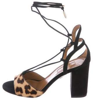 Aquazzura Austin Lace-up Sandals w/ Tags
