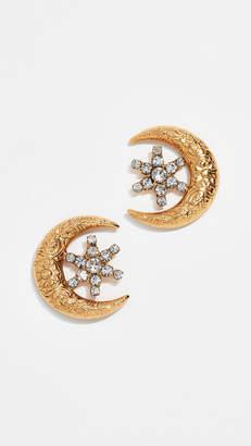 Jennifer Behr Moon & Star Stud Earrings