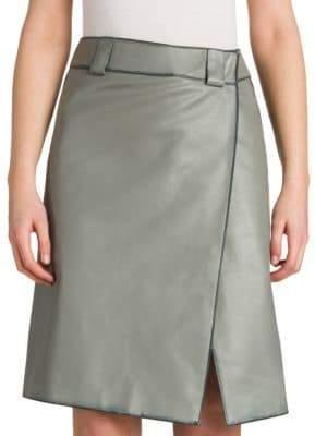 Prada Vintage Leather Wrap Skirt