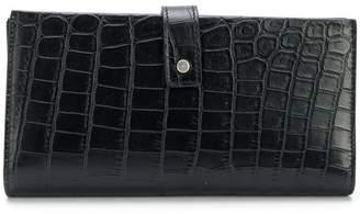 Saint Laurent croc-effect wallet