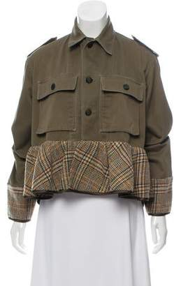 Harvey Faircloth Ruffle-Accented Patterned Jacket