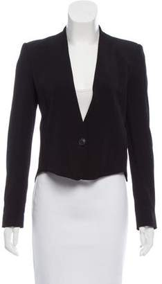 Theyskens' Theory Cropped Structured Blazer