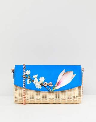 Ted Baker Straw Clutch Bag in Harmony Floral