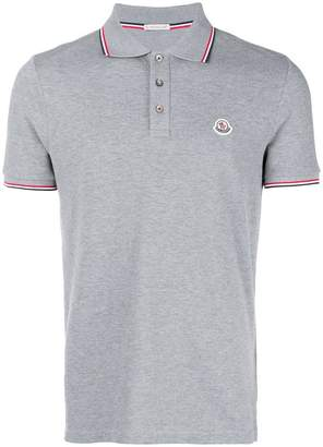 Moncler tri-stripe trim polo shirt