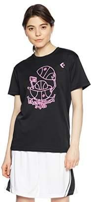 Converse (コンバース) - (コンバース) CONVERSE バスケットボールウェア ウィメンズ プリントTシャツ 18SS CB381301 [レディース] CB381301 1900 ブラック O