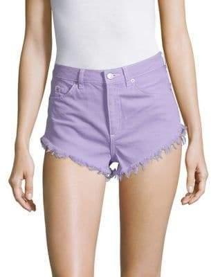 Topshop Lilac Denim Shorts