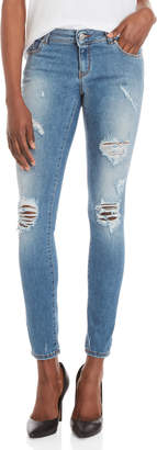 Love Moschino Patch-Effect Skinny Jeans