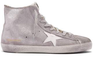 Golden Goose Francy High Top Leather Trainers - Womens - Silver