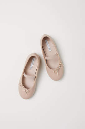 H&M Leather Ballet Flats - Orange